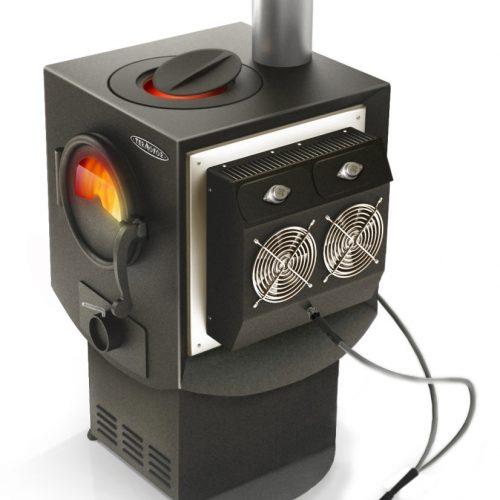 Преносима отоплително готварска печка генерираща ток